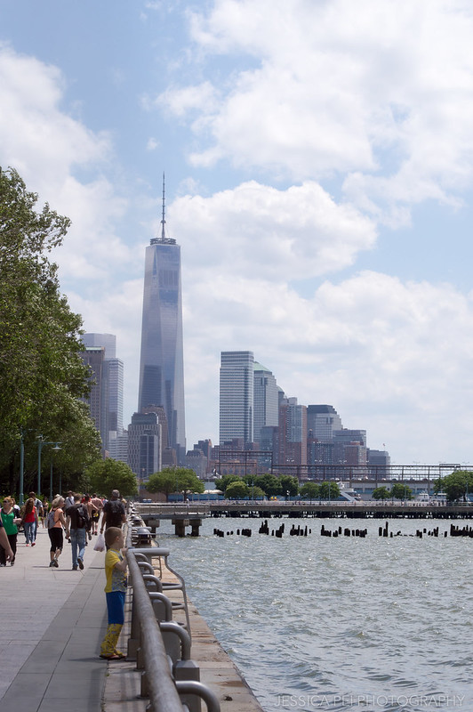 View of Freedom Tower from Chelsea Piers