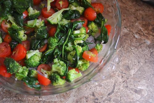 Veggies for frittata