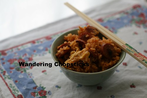 Fried Rice with Hot Dogs, Eggs, and Ketchup 8