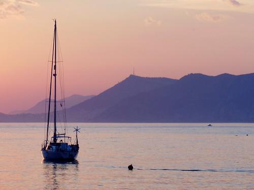 sunset sea sky sun mer clouds de soleil boat coucher croatia ciel nuages bateau cavtat voilier croatie hrvatska dalmatia damatie