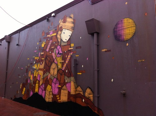 Morning Walk, 7 July 2014: Another Mural That Is So Much Nicer Than The One at Prinsep and Victoria