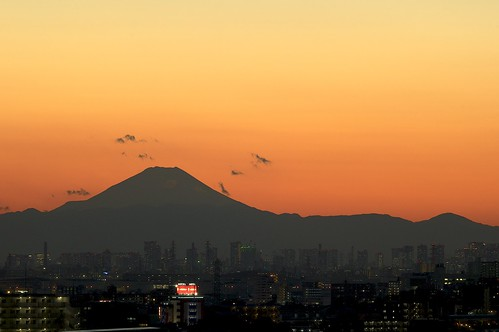 winter light sunset red color yellow japan tokyo evening twilight takumar chiba mtfuji sunnyday andotime