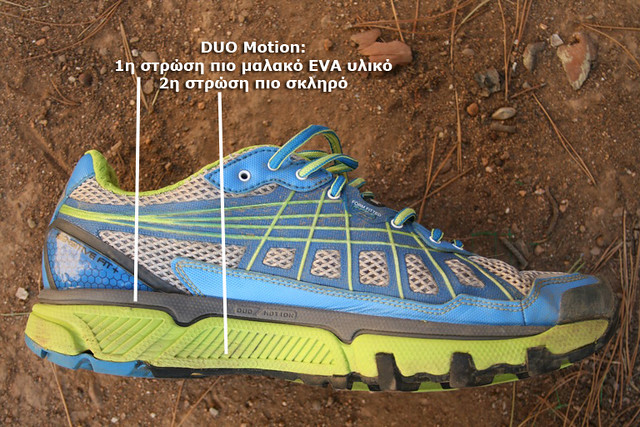 DUO Motion: Διακρίνουμε εύκολα τις δύο στρώσεις διαφορετικής σκληρότητας για προστασία και άνεση