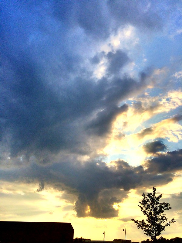 Dramatic clouds like this are just one more reason I love #Indy #Blessed