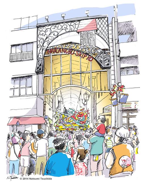 中延ねぶた祭り Nakanaobu Nebuta Festival