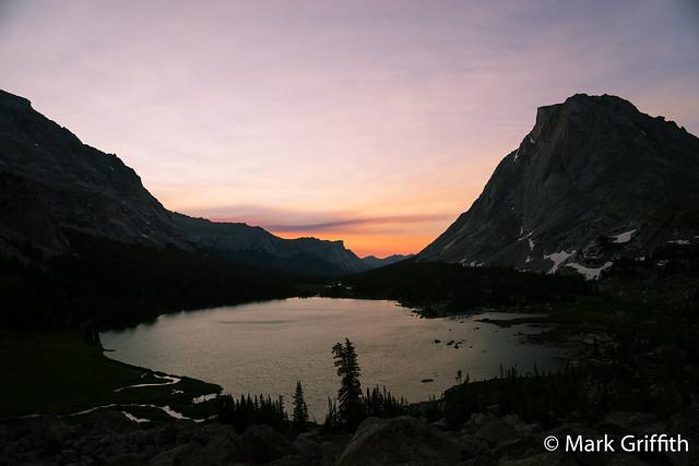 Sunrise over Lonesome Lake