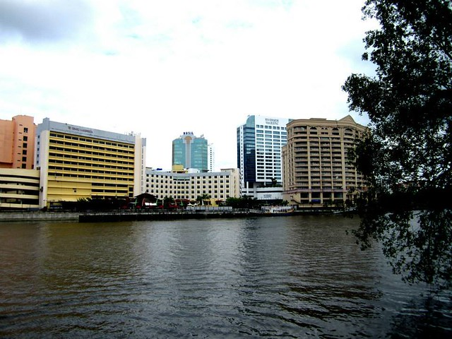 Kuching city centre from across river