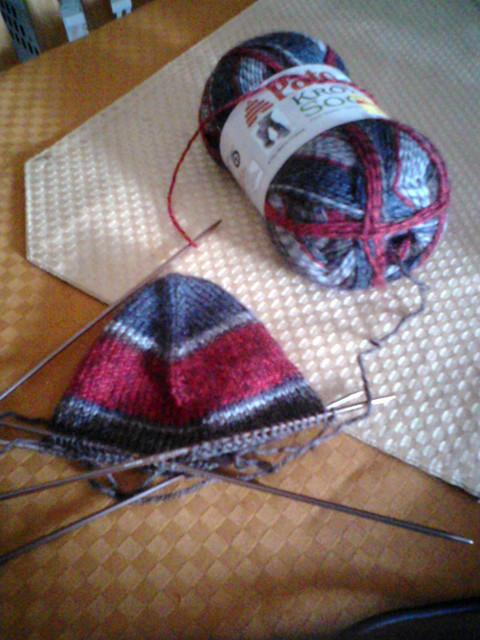 Socks in the making!