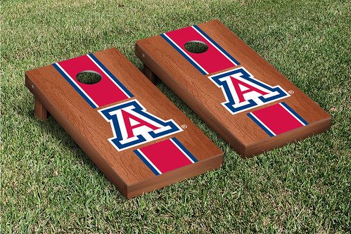 Arizona Wildcats Cornhole Game Set Rosewood Stained A Version