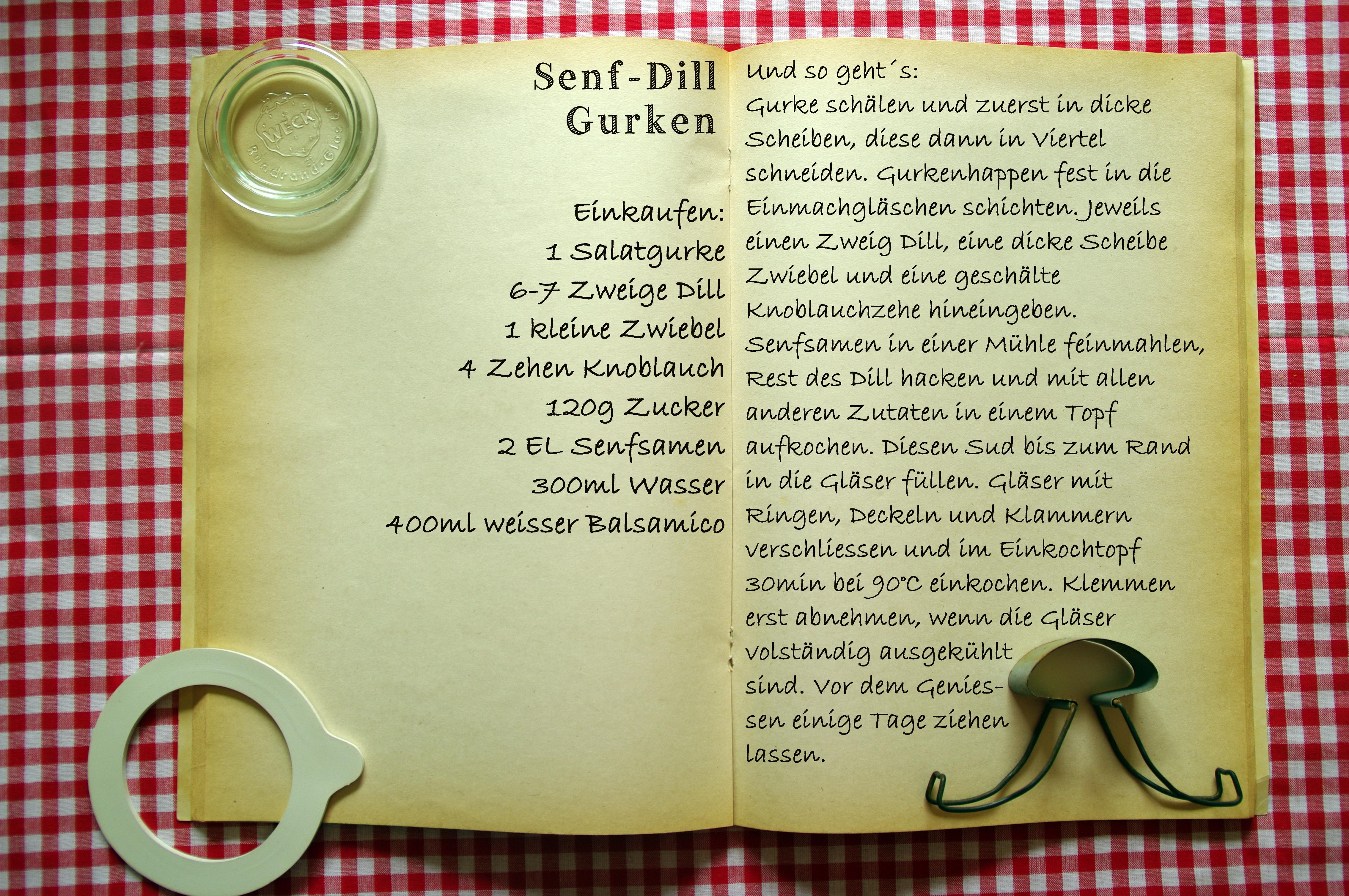 Einkaufszettel Senf Dill Gurken by Glasgefluester