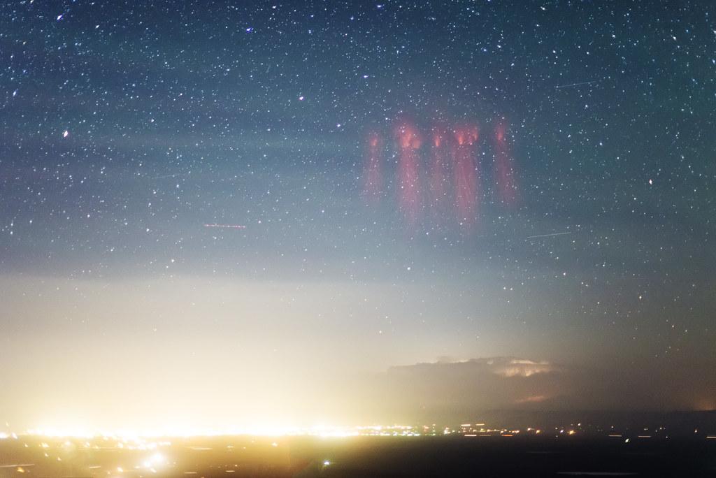 Sprites and airglow over Laramie