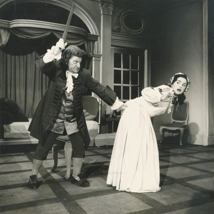 Χρ. Νέζερ & Αλ. Βουγιουκλάκη - «Κατά Φαντασίαν Ασθενής» στο Δημοτικό Θέατρο Πειραιά (1953)