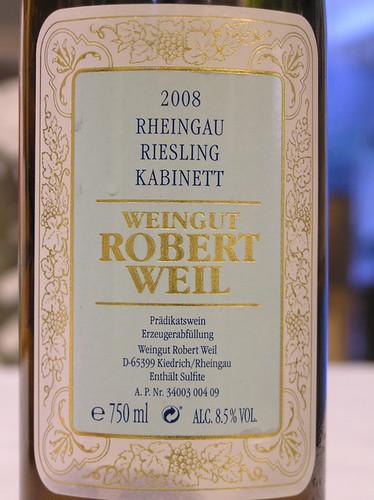 Robert Weil 2008 Riesling Kabinett Rheingau
