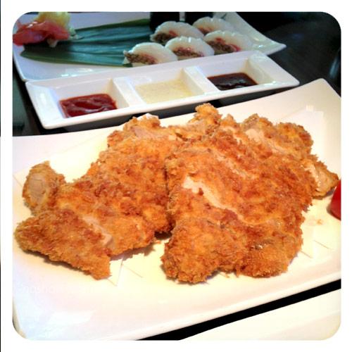 Japanese food-deep fried pork