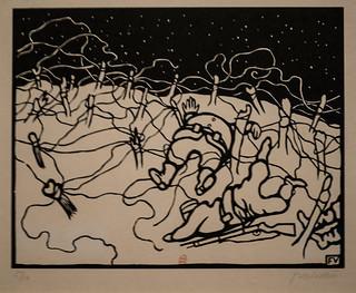 """Les barbelés (série """"C'est la guerre !"""") - Félix Vallotton - Exposition Les désastres de la guerre 1800-2014 - Musée Louvre-Lens"""