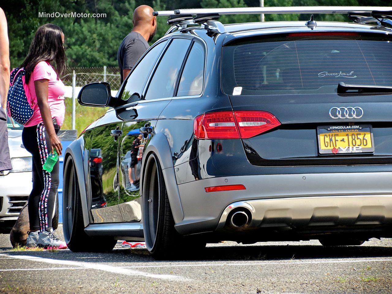 Slammed Audi Allroad stance