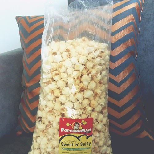 Kettle corn (but they call it sweet & salty due to copyright issues with kettle chips here in Australia). It reminds me of fall, Homecoming weekend and football games.
