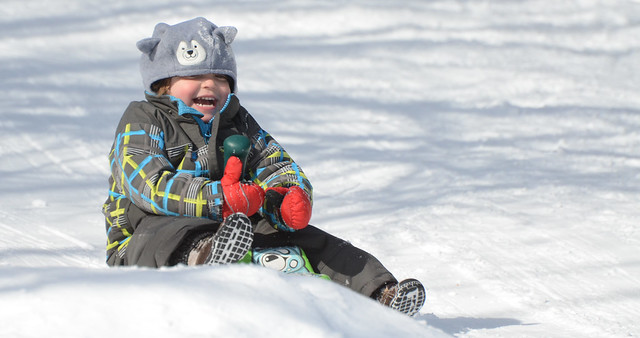 Giggles On The Toboggan Hill