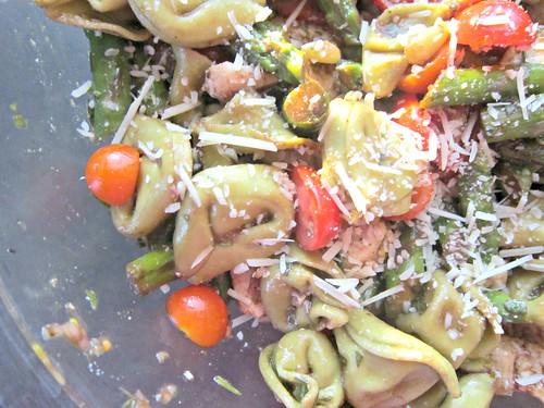 Chicken &  Tortellini Salad with Asparagus and Basil-Balsamic Vinaigrette