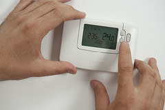 adjust thermostat