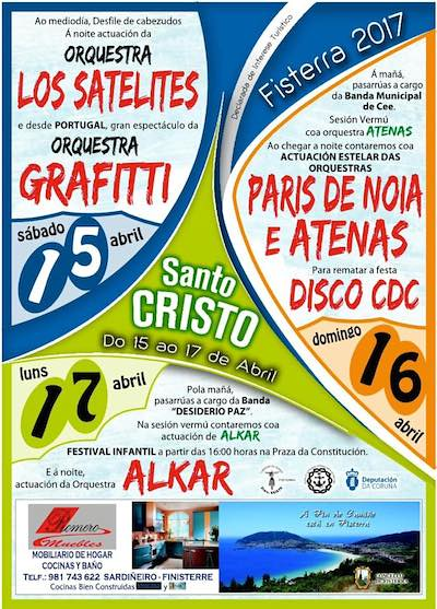 Fisterra 2017 - Festas do Santo Cristo - cartel