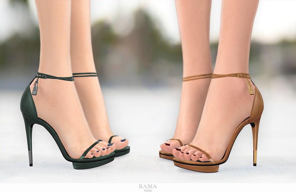 RAMA.Prosk - Maude Leather Sandals - SecondLifeHub.com