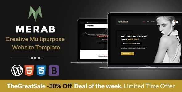 Merab WordPress Theme free download