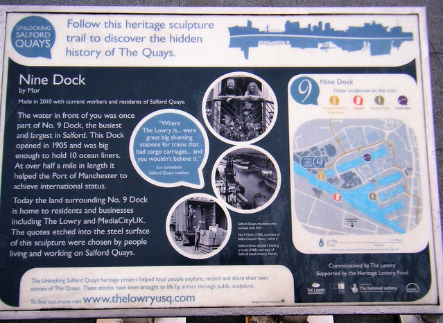 Salford Quays, Manchester Ship Canal - explanation board