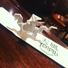 Folding my rendition of Randlett's #origami #dragon after a fine bowl of misoshiru and a plate of tempura...