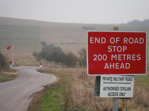 Military Road to Imber Range, by Battlesbury Hill
