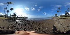 Wailupe Beach in East Honolulu, Oahu, Hawaii - a 360° Equirectangular VR