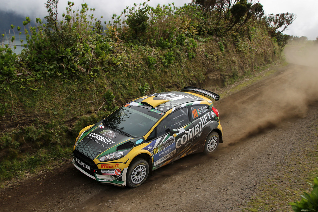 10 MOFFETT Josh FULTON James  Ford Fiesta R5 Action during the 2017 European Rally Championship ERC Azores rally,  from March 30  to April 1, at Ponta Delgada Portugal - Photo Jorge Cunha / DPPI