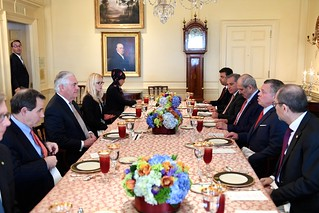 Secretary Tillerson Participates in a Working Luncheon With Jordanian King Abdullah II Ibn Al Hussein