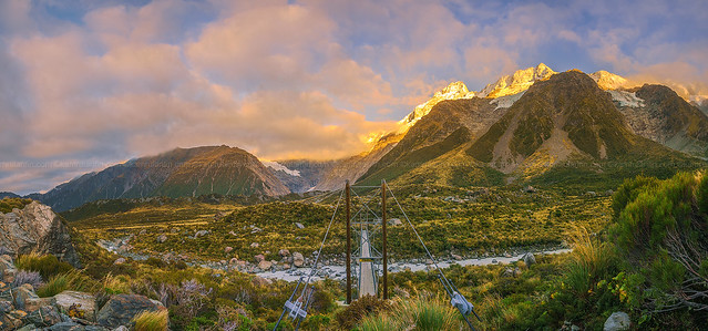 Mount Cook National Park Sunrise Panorama