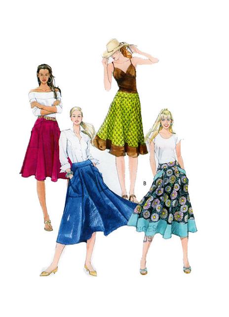 McCalls 5431 skirt sewing pattern