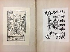 A pair of bookplates