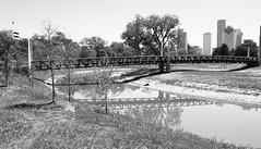 Police Memorial Footbridge over Buffalo Bayou, Houston, Texas 1404091210bw