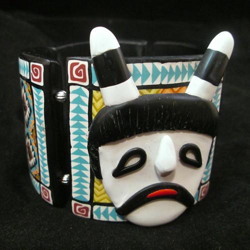 Clown Kachina Tile Bangle