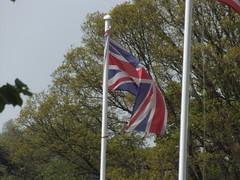 Sudeley Castle & Gardens - UK & US Flags