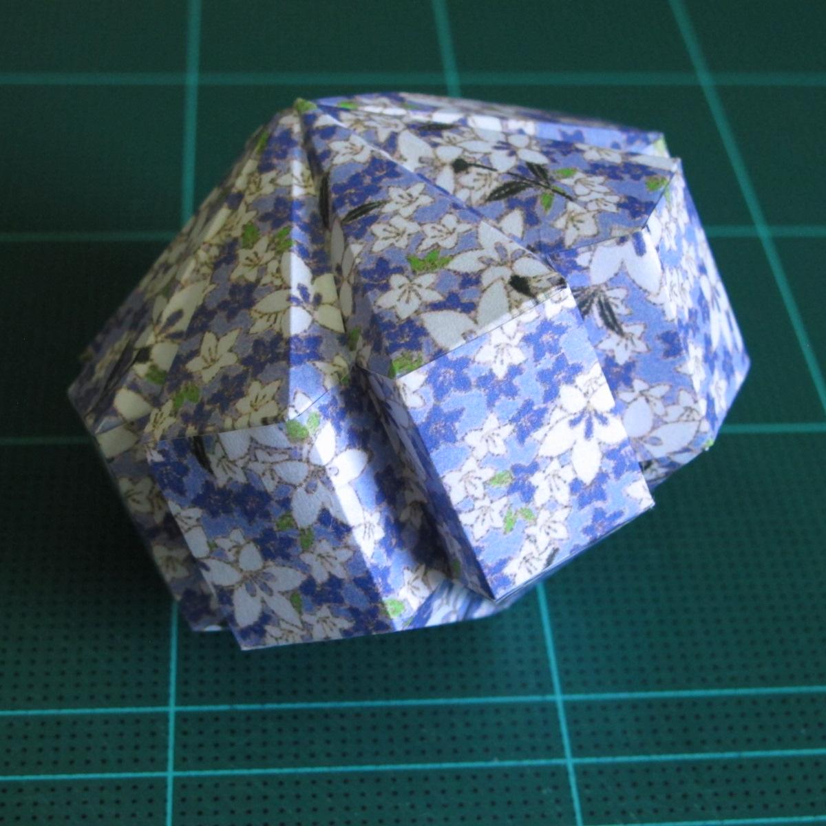 วิธีทำโมเดลกระดาษสำหรับตกแต่งทรงเรขาคณิต (Decor Geometry Papercraft Model) 012