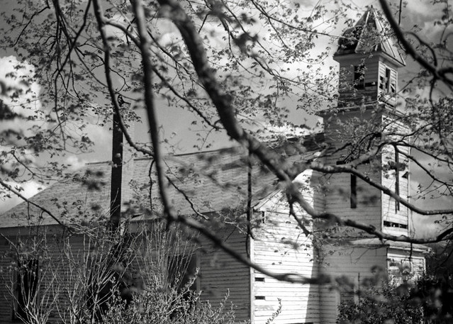 Old Church through Trees
