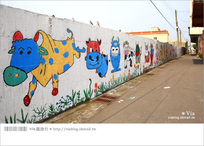 【彰化景點推薦】乳牛彩繪村(福寶村)~數百頭彩色小牛+夢幻藍晒圖的彩色村24