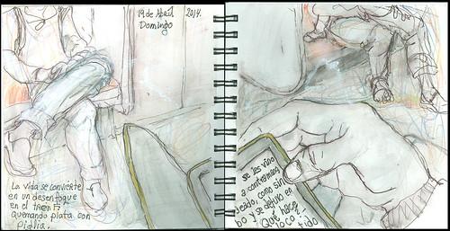 La vida se convierte en un desenfoque en el tren F: quemando plata con Piglia. 19 de abríl, 2014.
