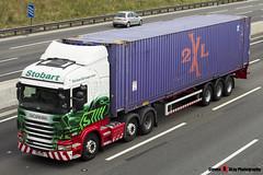 Scania R420 6x2 Tractor with 3 Axle Container Trailer - PO11 ZZF - Ann Elizabeth - Eddie Stobart - M1 J10 Luton - Steven Gray - IMG_5337