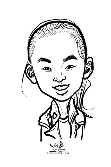 digital live caricature sketching for National Heart Centre Singapore -18