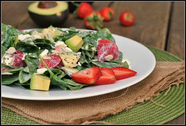 Strawberry Avocado Spinach Salad 3