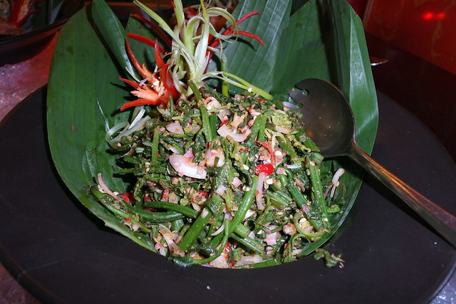 The Kerabu Pucuk Paku had a nice unusual bite to it on account of the generous helping of Fiddlehead ferns mixed with it