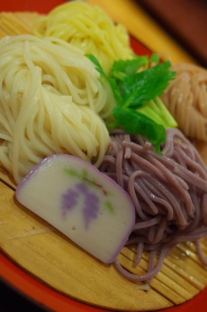 4 colors of flower flavor noodle