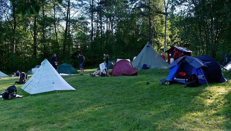 Morning camp Borlången