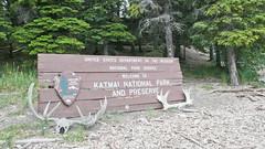 Brama parku Katmai na Alasce.